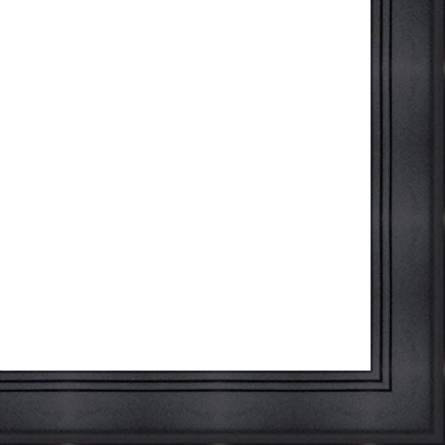 27x41 - 27 x 41 Contemporary Black Solid Wood Frame with UV Framer's Acrylic & Foam Board Backing - Great For a Photo, Poster, Painting, Document, or Mirror
