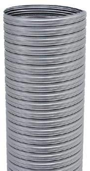 Tubo flexible liso de acero inoxidable de 80 mm de diámetro para estufa de pellets