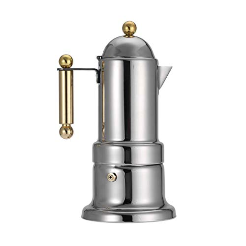 Best Prices! Espresso Maker Stainless Steel Moka Pot, Stovetop Portable Espresso Coffee Maker with S...
