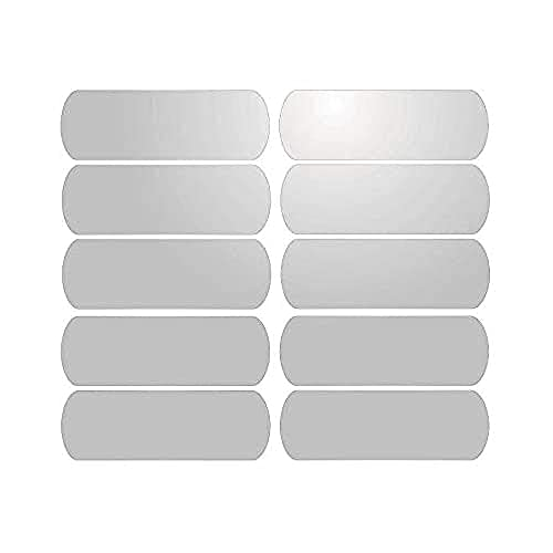 10 Bandes Adhésives Réfléchissantes pour Signalisation sur Casque 6x2 cm - Blanc Réfléchissant