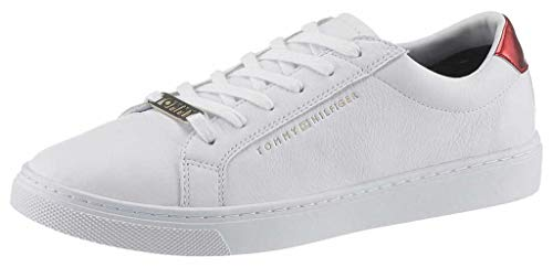 Tommy Hilfiger Essential Sneaker, Zapatillas para Mujer, Blanco (RWB 020), 39 EU