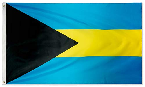 DANF Bahamas Flag 3x5 Foot Polyester Bahamian Caribbean National Flags Polyester with Brass Grommets 3 X 5 Ft