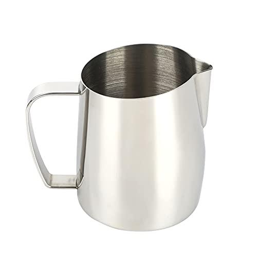YUNYODA Brocca per caffè espresso, in acciaio inox, per schiumare il latte da 420 ml
