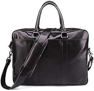 "Dengyujiaansstb Laptop Case, Business Briefcase Men's Leather 15.6"" Laptop Bag Casual Men's Bag Shoulder Bag Men's Briefca..."