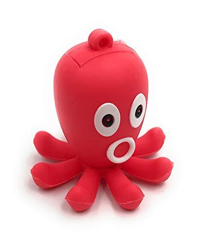Onlineworld2013 Krake - Chiavetta USB 3.0 a forma di pesce d'epoca, 128 GB, colore: Rosso