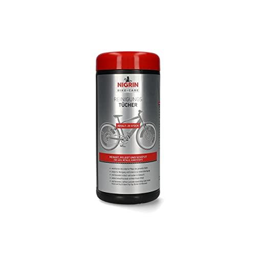 NIGRIN Fahrrad Reinigungstücher 20 Stück grau, Uni