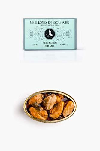 Mejillones Grandes en Escabeche Fritos en Aceite de Oliva