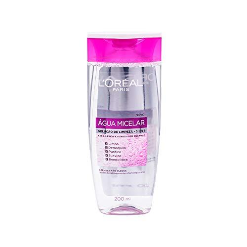 Água Micelar L'Oréal Paris Solução de Limpeza Facial 5 em 1, 200ml