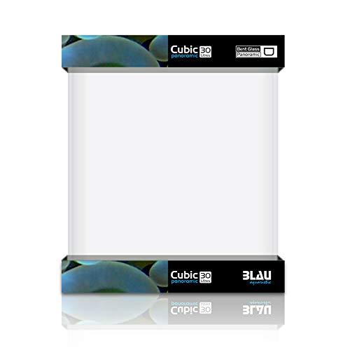 Blau Aquaristic Cubic Panoramic - Acuario de cristal doblado y pulido, 32 l, 7450 g, 30 x 30 x 35 cm