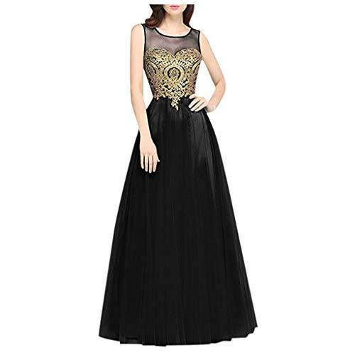 MAYOGO Abendkleider Lang Damen Vintage Ballkleider Cocktaikleider für Damen Hochzeit Meerjungfrau Retro Hochzeitkleid Brautkleider Chiffon Spitzenkleid