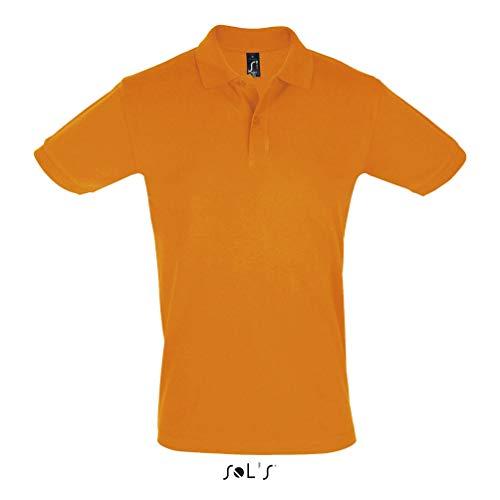 SOL'S Perfect – Polo Manches Courtes Homme - Confortable en matière Coton piqué - Orange - L