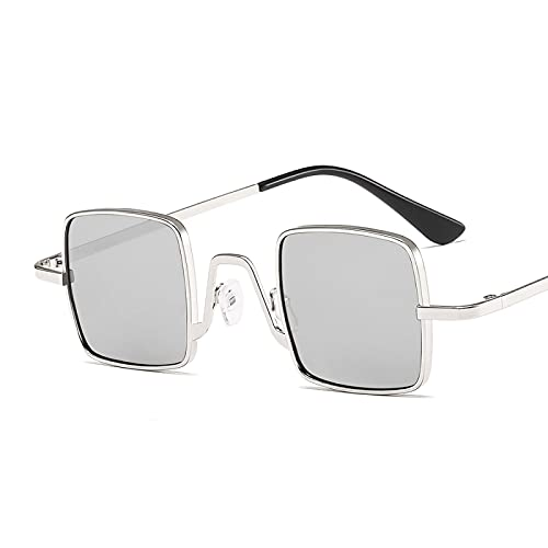 Sunglasses Gafas de Sol de Moda Gafas De Sol Cuadradas Rosas Vintage para Mujer, con Montura Rectangular, Lentes De Océa
