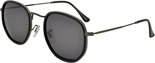 SQUAD Gafas de sol polarizadas Con cierre de aro hombre y mujer Polígono marco mixto de plástico y metal protección UV400