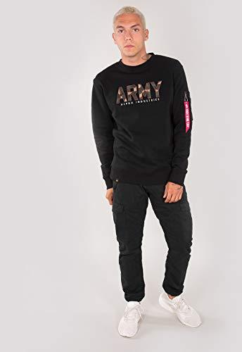 Alpha Industries Army Camo Sweatshirt Schwarz/Camouflage XL