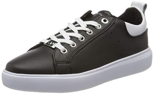 TOM TAILOR Damen 8090602 Sneaker, Mehrfarbig (Black-White 00236), 39 EU