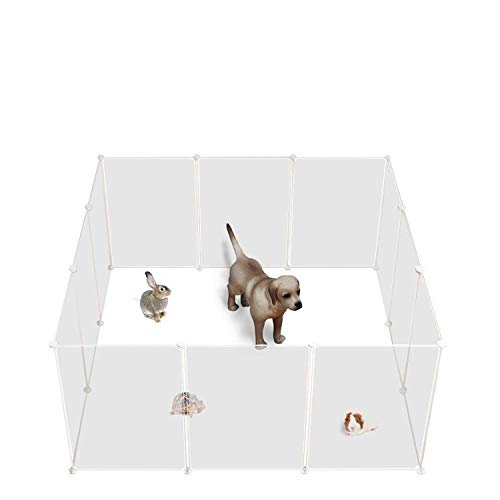 Allisandro Small Pet Playpen, Small Animal Cage for Indoor Outdoor Use, Foldable Yard Fence for Small Animal, Puppy, Kitten, Guinea Pigs, Bunny, Turtle, Hamster (12 Playpen)
