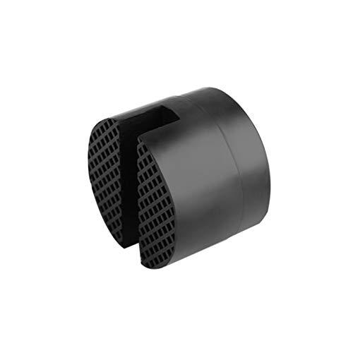 Betteros Almohadilla de goma universal ranurada, adaptador de Jack Pad de marco, riel de suelo, almohadillas de goma, adaptador de almohadilla de goma, color negro