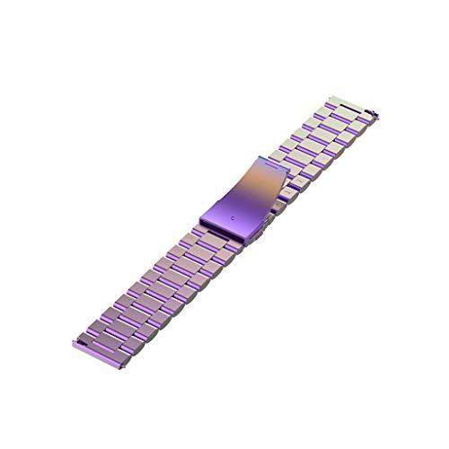 YOKING Hua-mi Am-azfit GTR 47 mm pulsera de acero con tres perlas, pulsera para hombre, pulsera para mujer, accesorios para reloj inteligente