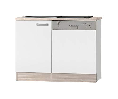 idealShopping GmbH Küchen Spülenschrank Set mit Arbeitsplatte Genf SPGSSET-9 in weiß 110 cm