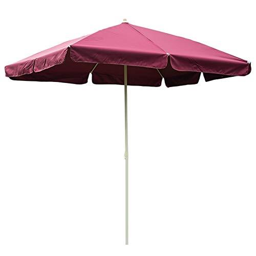 HWF Sombrilla Sombrilla de jardín, Rectangular Sombrilla de Patio 8 × 6 pies, Paraguas de Mesa de Mercado al Aire Libre para jardín/césped/terraza/Patio/Piscina, Rojo