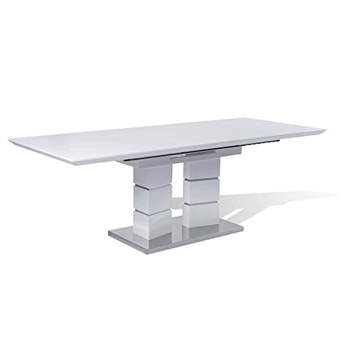 New Spec Modern Extendable Dining Table in White