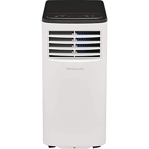 Frigidaire FHPC082AC1 8,000 BTU Portable Air Conditioner with Dehumidifier Mode Rooms up to 350-Sq. Ft, 26.800, White (Renewed)