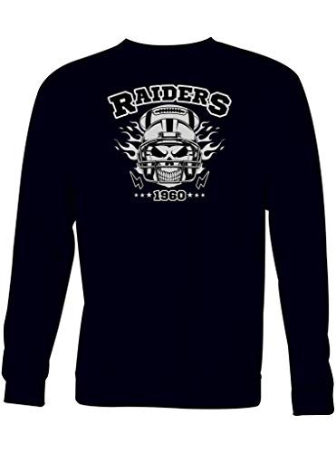 Shirt Happenz Raiders American Football Oakland 1960 Super Bowl Sweatshirt Pullover Pulli, Größe:L, Farbe:Schwarz