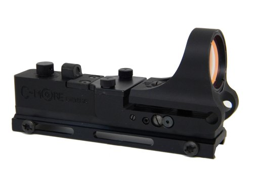 C-MORE Systems Tactical Railway Red Dot Sight with Click...