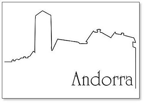 Imán para nevera con diseño de la ciudad de Andorra La Vella
