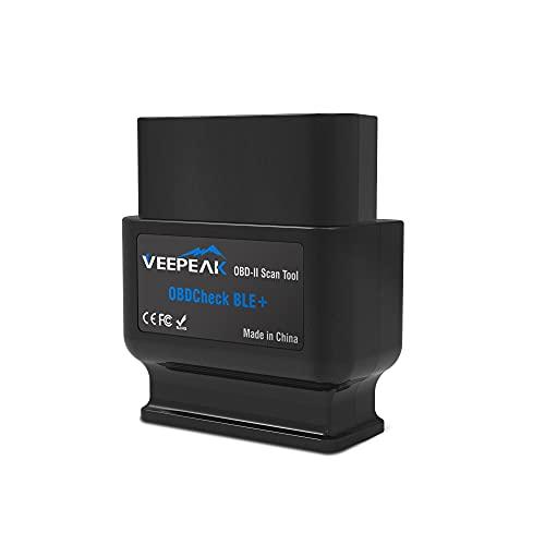 Veepeak - Scanner OBDCheck BLE + Bluetooth 4.0 OBD2, per iOS e Android, strumento di scansione diagnostico per auto, con funzione di lettura di codici, per veicoli universali OBDII/EOBD