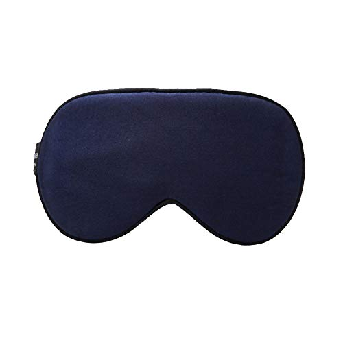 Schlafaugenmaske Two Sides Chic Einfarbiger Eyeshade Augenbinde Travelling Sleeping Eye Mask Patch Für Eye Relax Sleeping Aid-Navy Blau