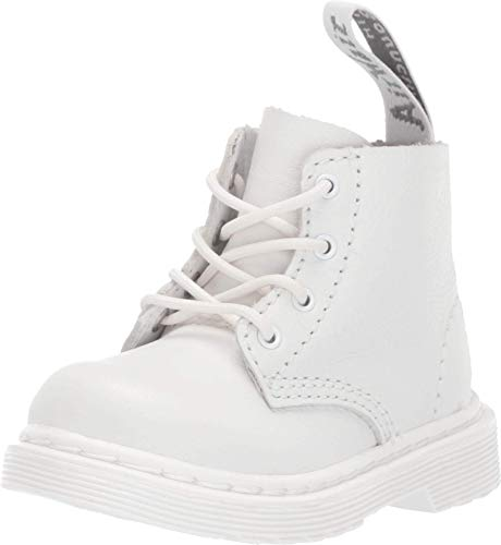 Dr. Martens Kid's Collection 1460 Pascal Mono Boot (Toddler) Optical White Virginia 6 UK (US 7 Toddler)