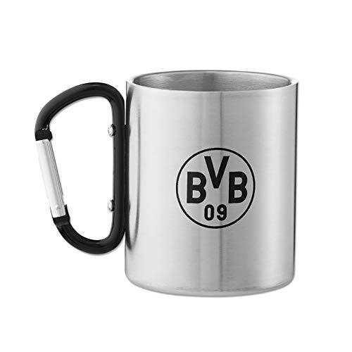 Borussia Dortmund BVB Tasse, Becher Edelstahl mit Karabinerhenkel, 19704500