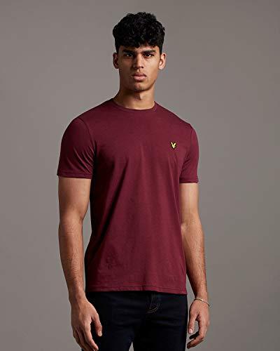 Lyle and Scott Plain T-Shirt Herren Bordeaux, M