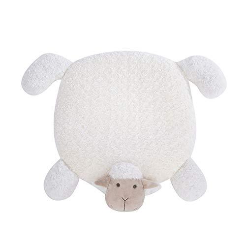 ZDJR Selbstheizendes Haustierdecken-Pad - Lammförmige, warme, weiche Haustiermatte Ideal für kleine/mittlere Hundekatzen, rutschfeste Gummiunterlage Maschinenwäsche,Weiß