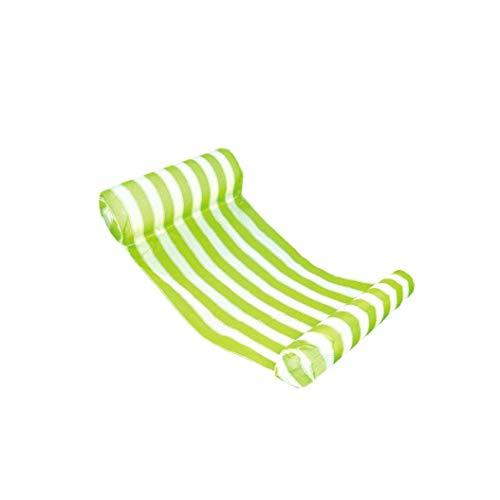 linjunddd Rayas De Agua Hamaca Portátil De Flotación Piscina Salón De Agua Inflable Almohada Flotador Silla De Salón De La Trainera para Adultos Y Niños Al Aire Libre del Producto Verde 1pc