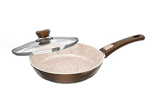 Genius Auswahl Granit Serie Crepes-Pfanne, Bratpfanne, Wok-Pfanne, Grillpfanne, Bräter, Töpfe (Bratpfanne 28cm)