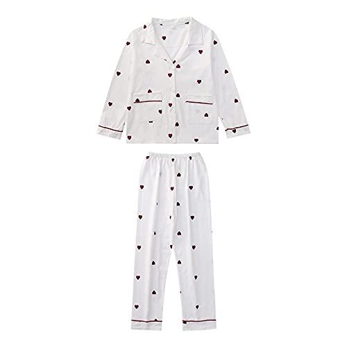 SIMEISM Hübsche Kinder-Hausklimaanlagen-Kleidung, zweiteilige Revers Strickjacke, Mädchen-Schlafanzug-Set, Herbstkleidung, Freizeitkleidung
