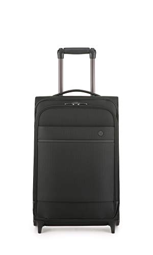 Antler Stirling Black Cabin Suitcase On Wheels | Hand Luggage | Soft Shell Suitcase | Small Suitcase On Wheels | Spinner Suitcase | Mini Suitcase | Lightweight Luggage | Carry On Suitcase
