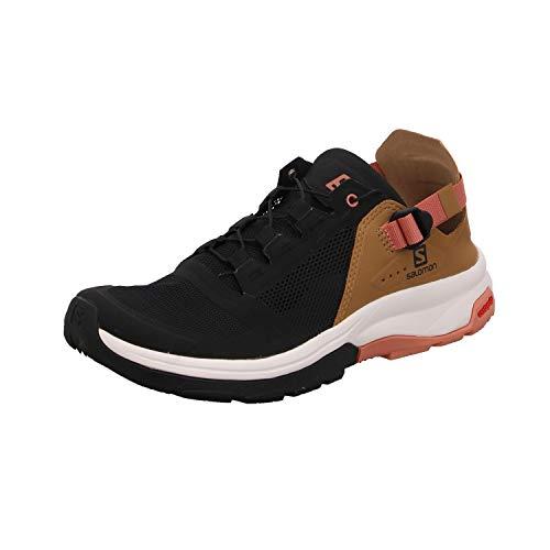 Salomon Women's TECH Amphib 4 W Water Shoes, Black/Bistre/Tawny Orange, 7.5