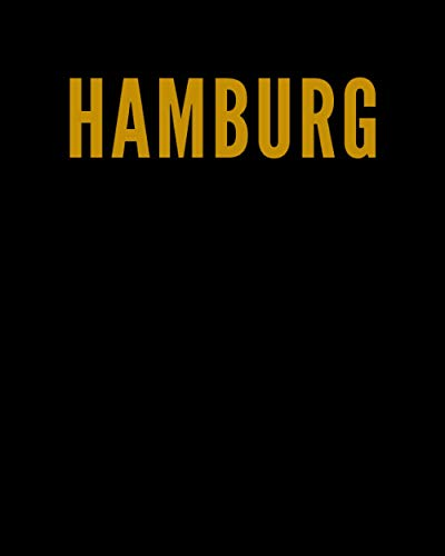 HAMBURG: A Decorative GOLD and BLACK Designer Book For Coffee Table Decor and Shelves | You Can Stylishly Stack Books Together For A Chic Modern ... Stylish Home or Office Interior Design Ideas