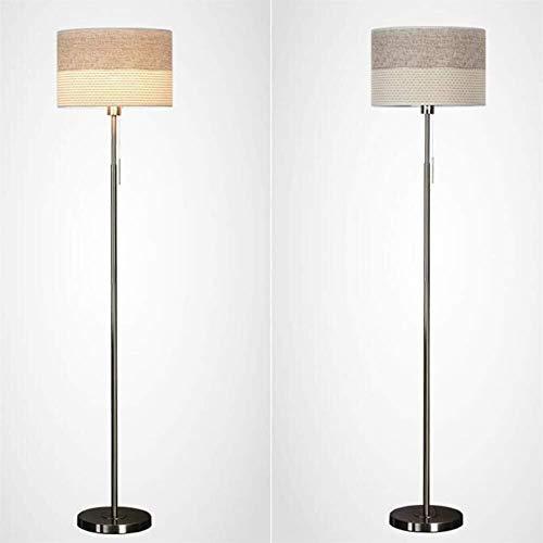 GUOSHUCHE Lámpara de pie de Luces de Piso escandinava de Tela Simple Moderna de la lámpara se ilumine de Suelo for Estar Sala de Estudio de Mentira Luces Verticales Incluye Bombilla
