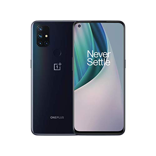 OnePlus Nord N10 5G, Euro 5G /Global 4G LTE, International Version (No US Warranty), Midnight Ice 128GB, 6GB - GSM Unlocked (T-Mobile, AT&T, Metro) - 64GB SD Bundle