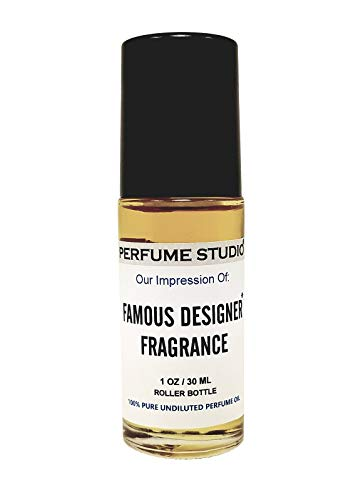 Perfume Studio Fragrance Oil Impression Roll-on Bottle. Parfum Strength Undiluted & Alcohol Free. Scent: (Noir Type, 1oz)