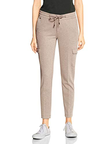 Street One Damen Fay Loose Fit Hose, Dark Creamy Sand, W38/L30