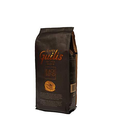CAFES GUILIS DESDE 1928 AMANTES DEL CAFE Café en Grano Natural Black Blend de Tueste Natural 1 kg