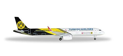 Herpa 528825 - Turkish Airlines Airbus A321 BVB 09 Borussia Dortmund