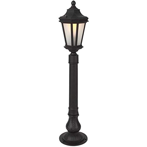 Suave, no deslumbrante Column headlight Columna Faro - la lámpara del pilar exterior columna impermeable de aluminio del faro de cristal farolas panorama de la moda exterior Lámpara de césped Puerta d