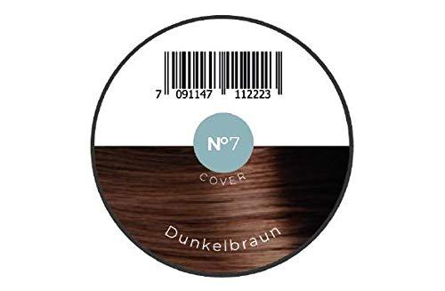 KÖ-HAIR FIBERS Haarverdichtung, Schütthaar, Streuhaar für lichtes Haar und Teilglatze 12g Dunkelbraun