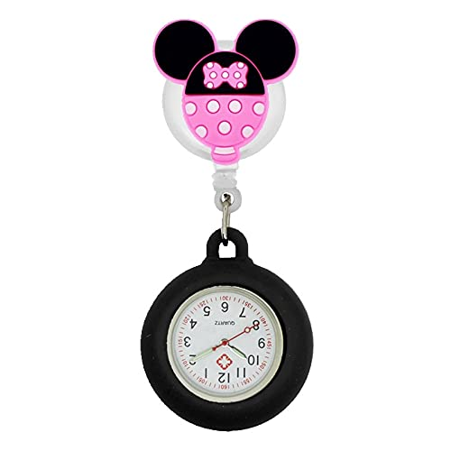 Relojes Preciosos Modelos De Dibujos Animados Enfermera Doctor Relojes De Bolsillo De Silicona Retráctiles Regalo Colorido para Mujeres Médicas del Hospital Carrete De Insignia para Hombre 11